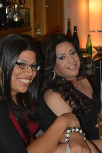 Claudia (right) and Alexia headed to Ziegfeld's/Secrets for their after party plans.