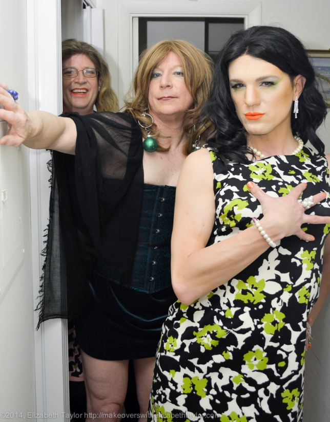 Abby Cadabra Shows Off Her Stepford Wives Look While Benita Jizzelle