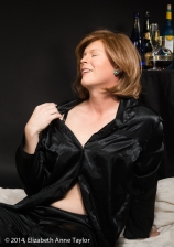 """""""I feel so sensuous in these satin PJs,"""" Kimberly muses. """"I wonder how I'd look in one of my party gowns..."""""""