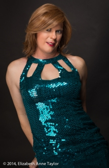 I feel so gorgeous in this sparkling, sequin dress! Don't I look like a mermaid? I feel like I could swim! Oh, wait... that's my head swimming...