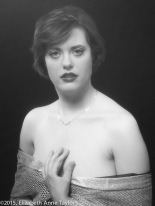 Dawn uses Marily Monroe makeup, wardrobing, and lighting with a soft-focus lens reminiscent of 1920s Old Hollywood.