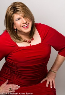 Tracy Lynn shows off her gorgeous red dress and coordinating jewelry.