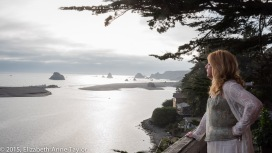 Giselle looks out over the Pacific Ocean on our last day of our California vacation to San Francisco and wine country.