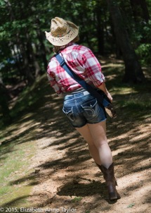 Feeling happy and ready to face the world, Kimberly walks back toward civlization.