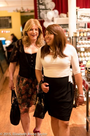 Jizzelle and Risa walk out of Cheesetique in Del Ray in Alexandria.