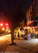 Risa walks down Mount Vernon Ave in Del Ray.