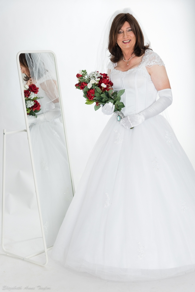 Bride full length image