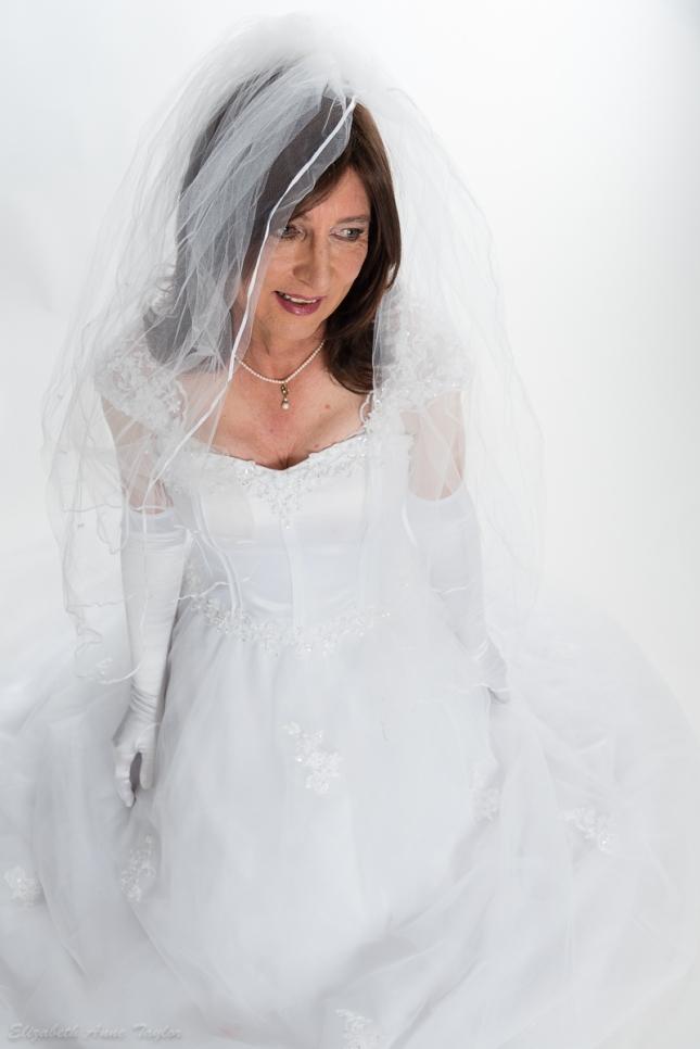 Romantic transgender bride
