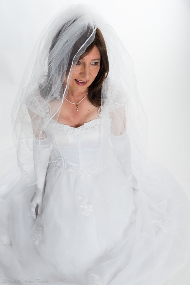 Romantic transgender bride