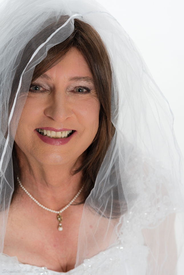Glowing transgender bride