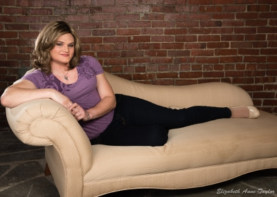 Katherine on couch