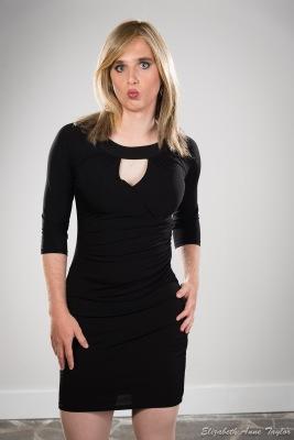 Connie in black dress