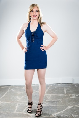 Connie sports blue club dress