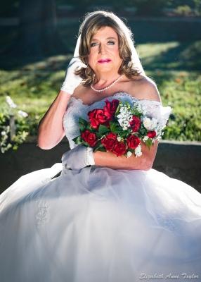 Bridal portrait of Marie