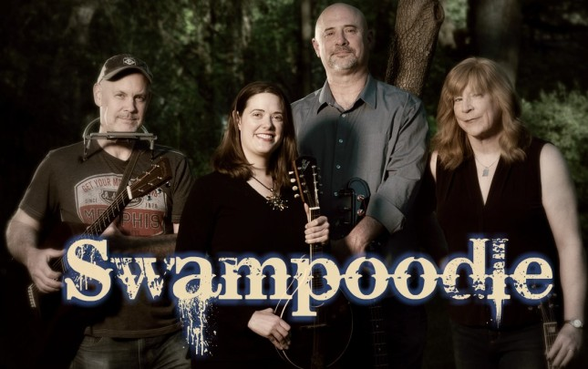 Swampoodle band photo holding instruments
